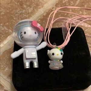 kitty glass pendant necklace